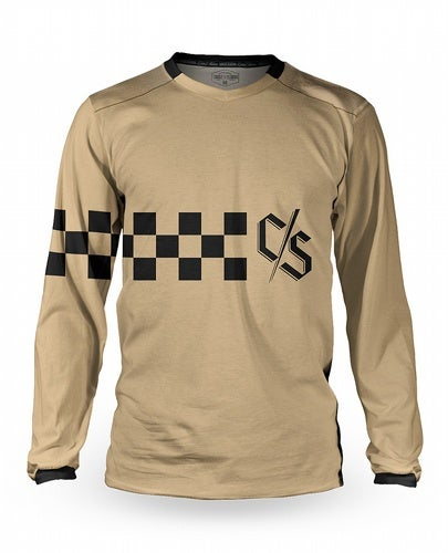 Image of Vink Race Tan Long Sleeve Jersey