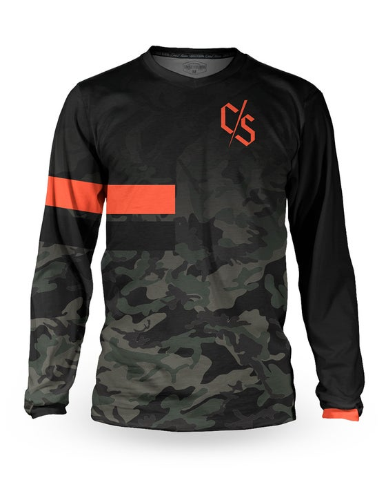 Image of Dipped Camo Long Sleeve Jersey