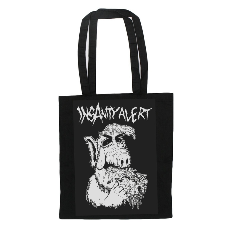 Image of NEW! Insanity Alert Alf Tote-Bag