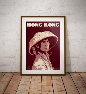 Image of Vintage poster Hong Kong - Fisherman portrait - Fine Art Print