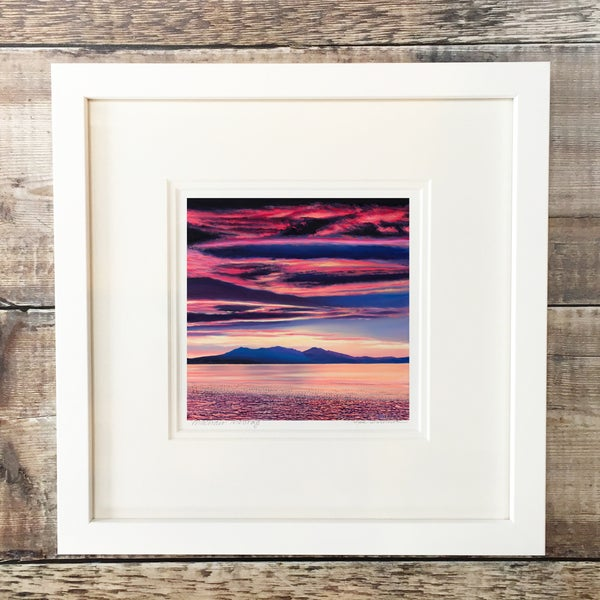 Image of Arran sunset giclee print