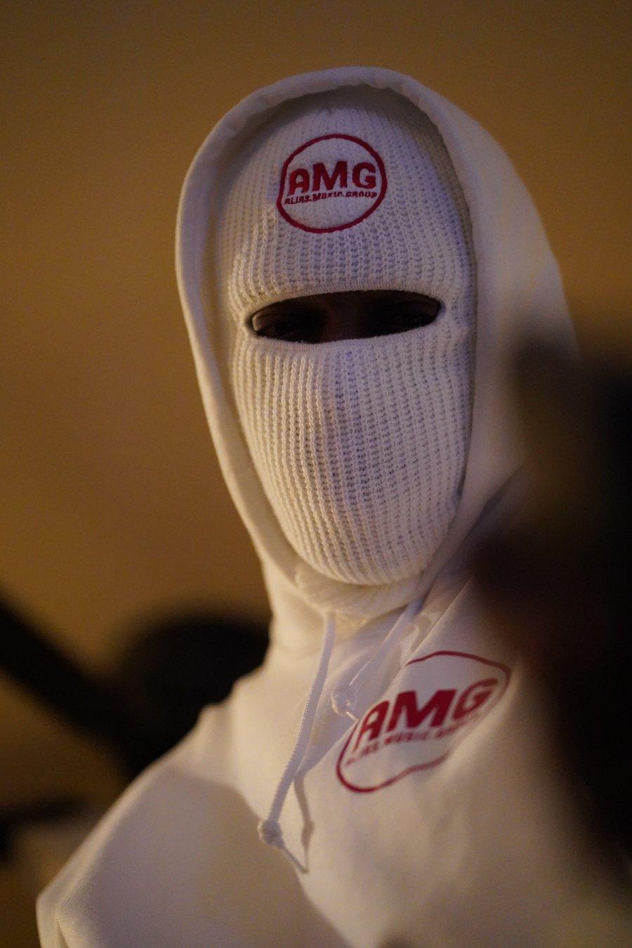 Image of White ninja hoodie