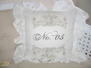 Image of French No. 5 Ruffle Pillow