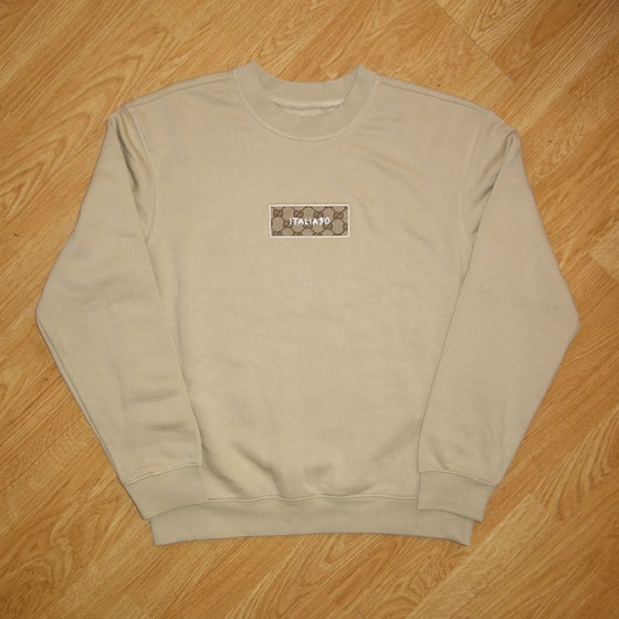 Image of Box Logo Sand Custom Sweatshirt
