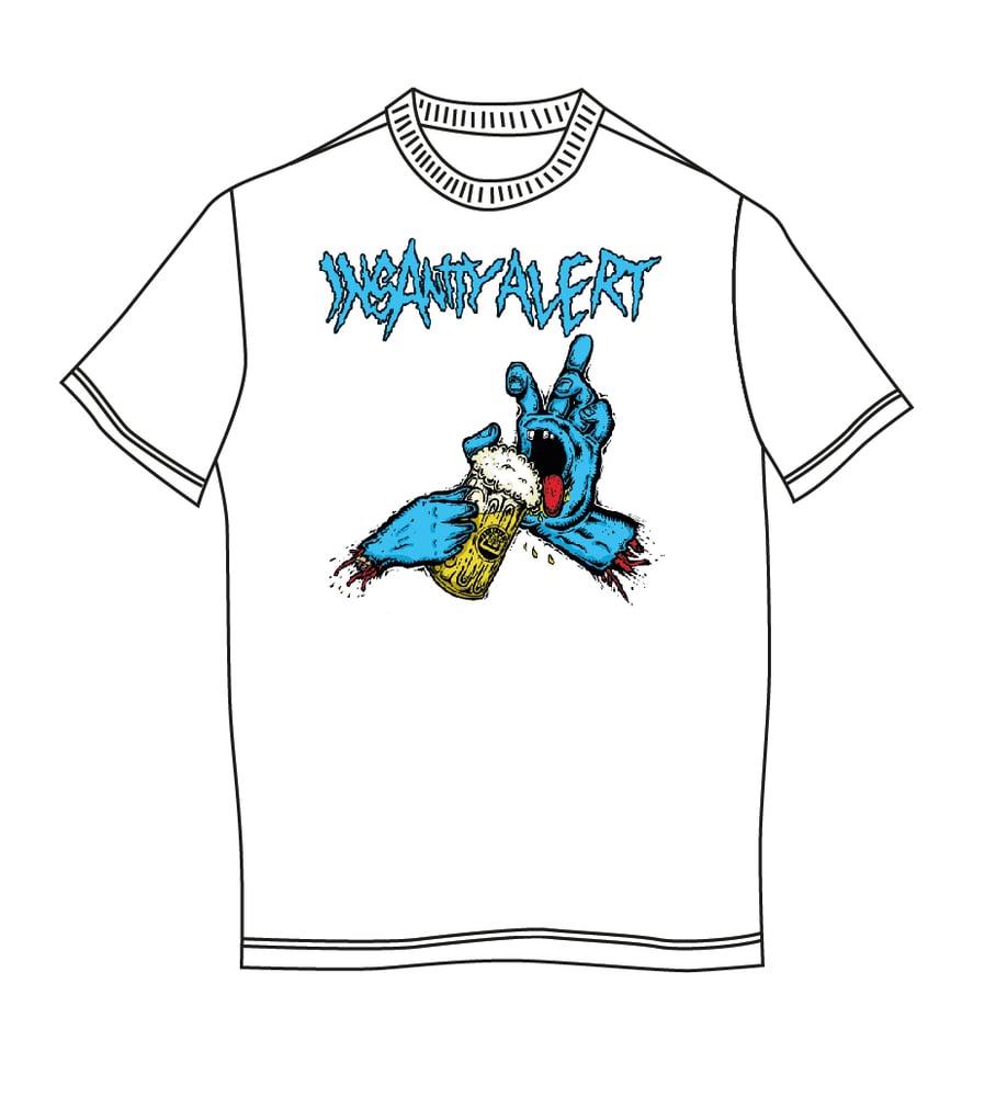 Image of NEW! Insanity Alert - Saufing Hand T-Shirt