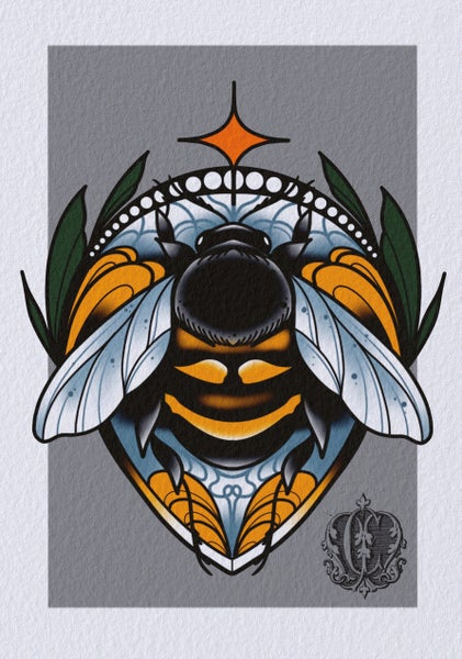 Image of Bumble Bee print