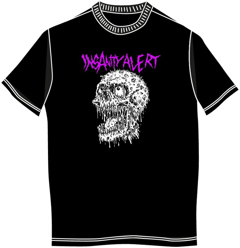 Image of NEW! Insanity Alert - Maggot Skull T-Shirt
