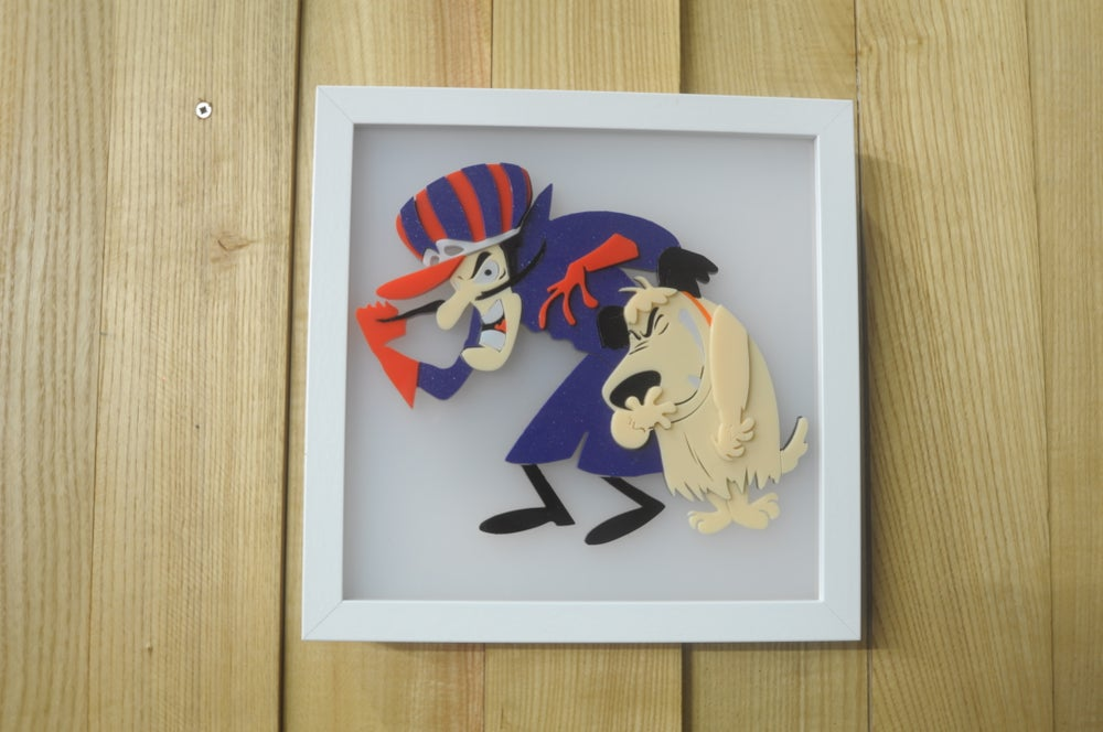 Image of Dick Dastardley & Muttley LED Wall Art