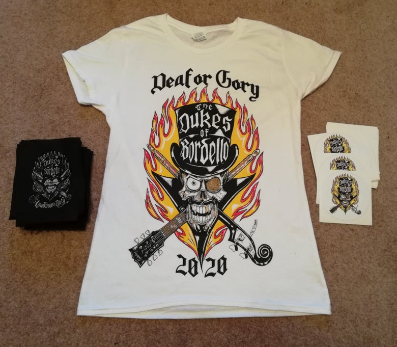 "Image of Dukes ""Deaf or Gory"" 2020 T Shirt"