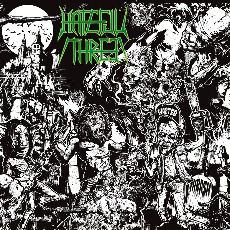 Image of NEW! Hateful Threat - S/T LP