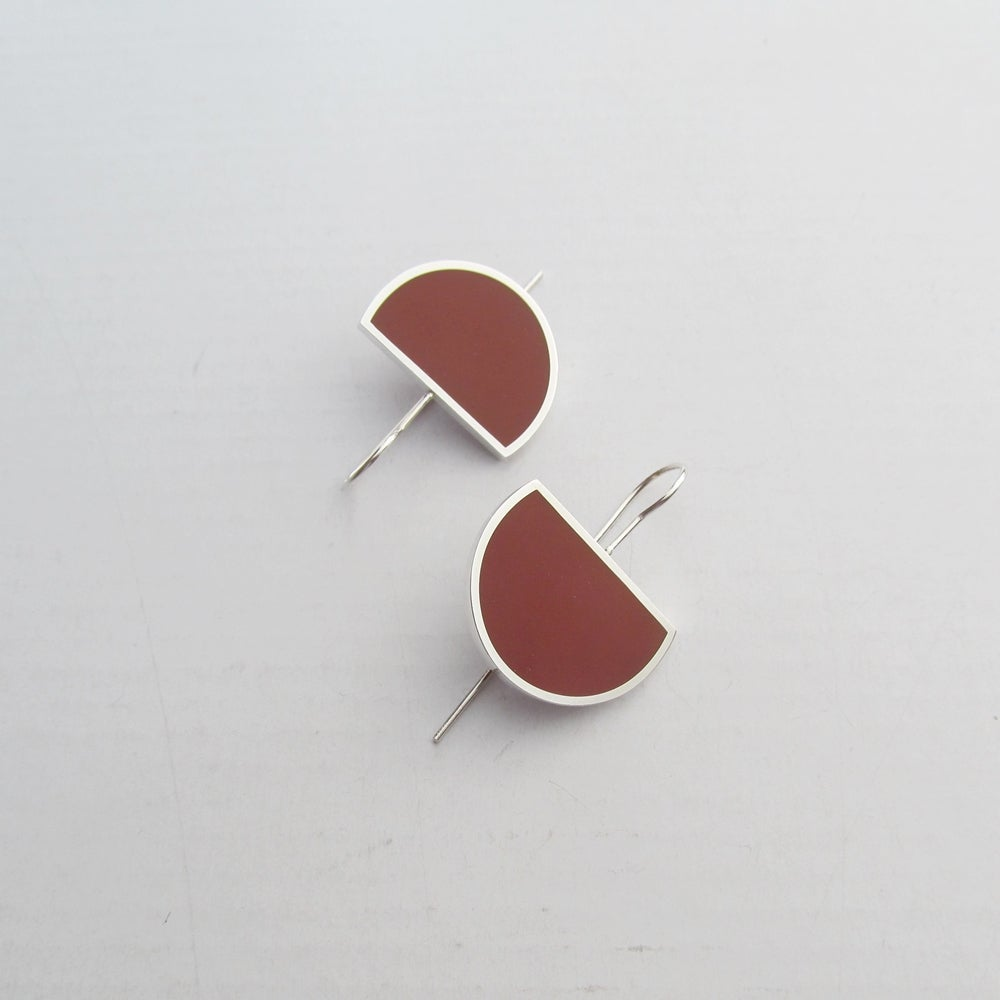 Image of Eclipse Drop Earrings in Autumn Foliage