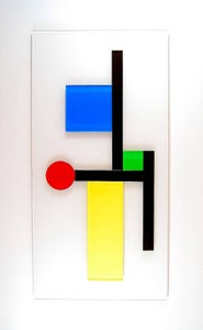 Image of ::modern geometric wall sculpture::