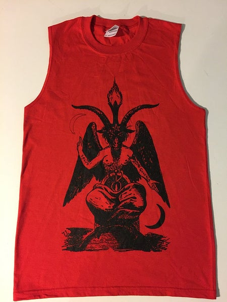 Image of Baphomet - Tank top Red Muscle T-shirt