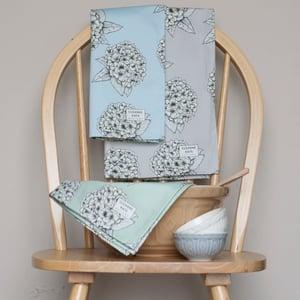 Image of Hydrangea tea towel