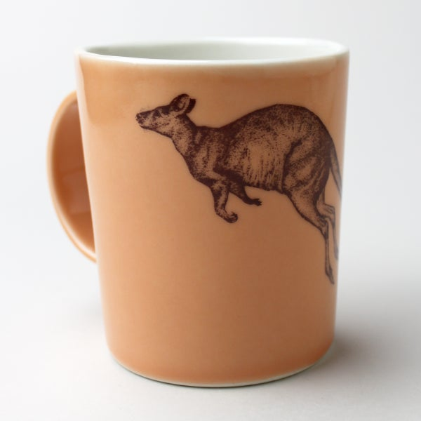 Image of 16oz mug with kangaroo, sunset