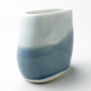 Image of beachstone vase, dusk watercolor