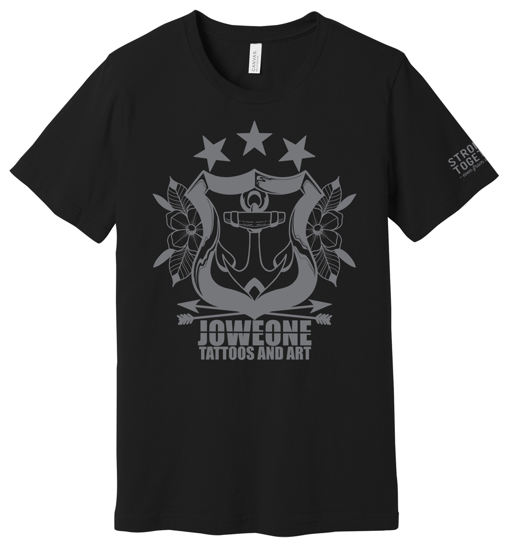 """Joweone Tattoos and Art """"Stronger Together"""" Tee"""