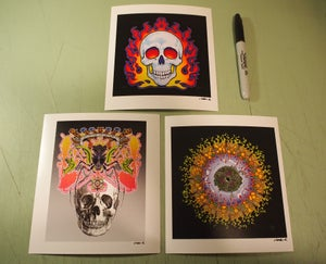 Image of SKULLS & MANDALA mini print set