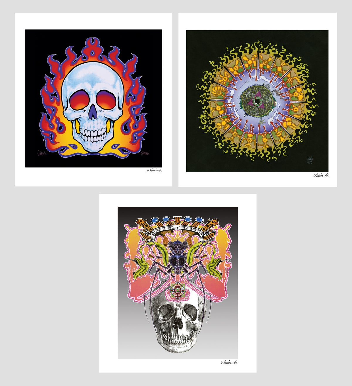 Image of SKULLS & MANDALA mini prints