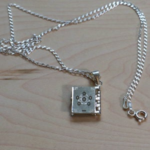 Sterling Silver Book of Harmony Pendant