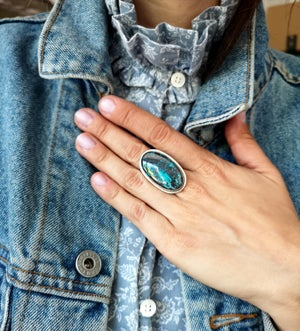 Image of Bague Azurite - taille 58 -