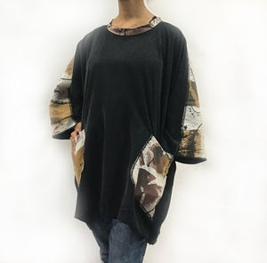 Image of Alison Tunic - Only One - Tencel with Hand Painted Cotton/Linen