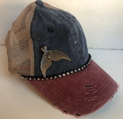 Image of Acid Washed Brushed Trucker Silver Whale Tail