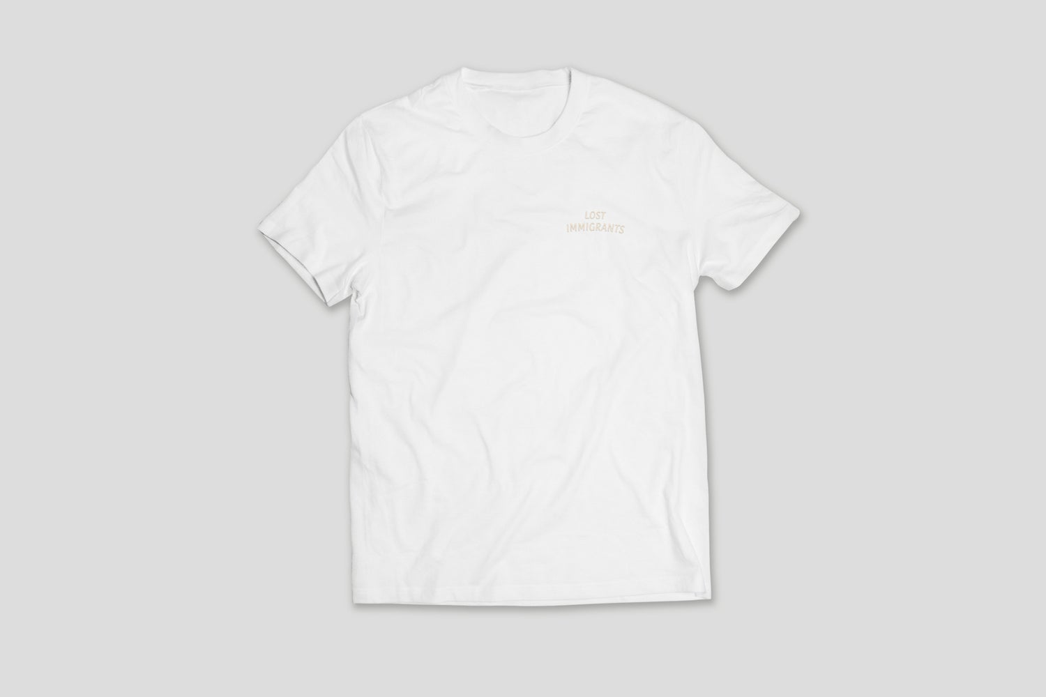 Image of White Embroidered Tee