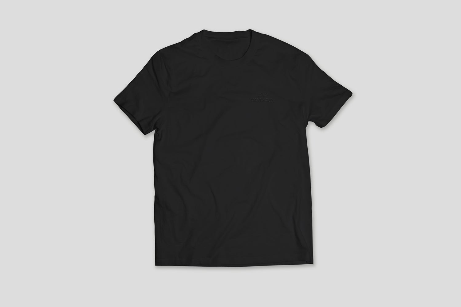 Image of Black Embroidered Tee