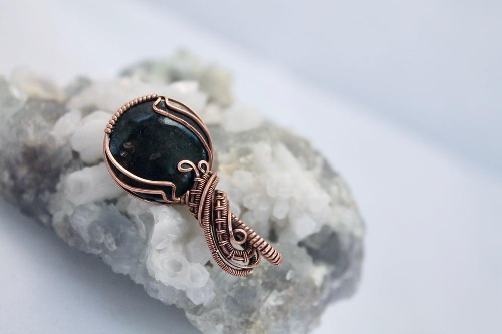 """Image of """"Esteban"""" Enchanting Round Nummite Amulet Pendant"""