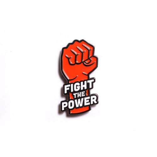 Image of Fight The Power Enamel Pin