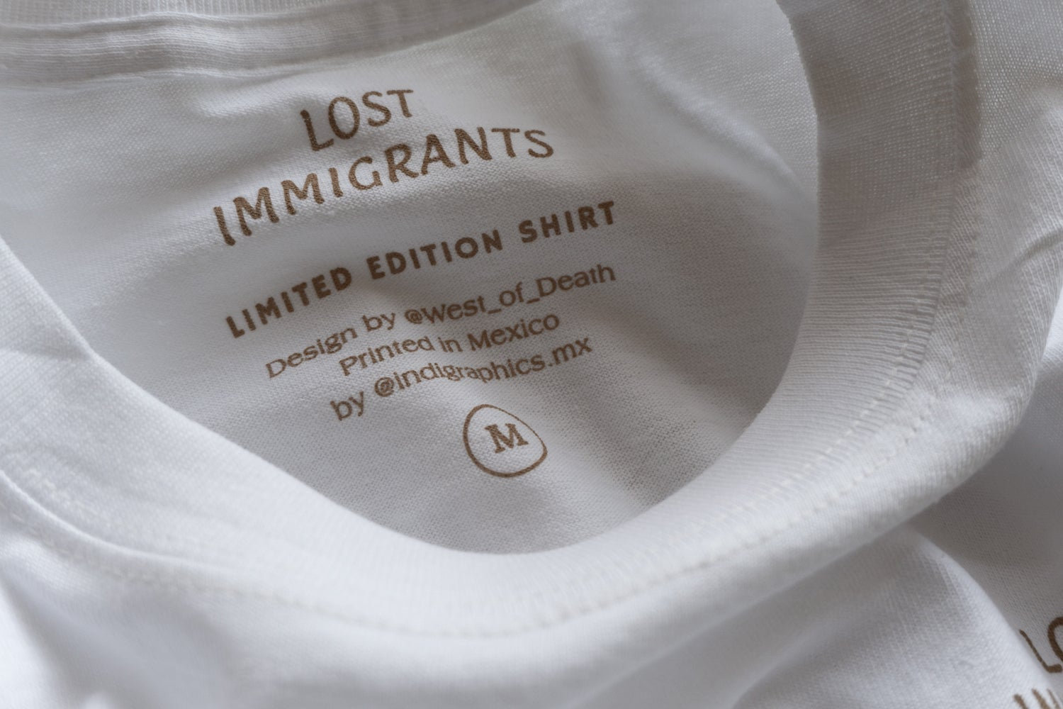 Image of White Lost Immigrants x West of Death Tee