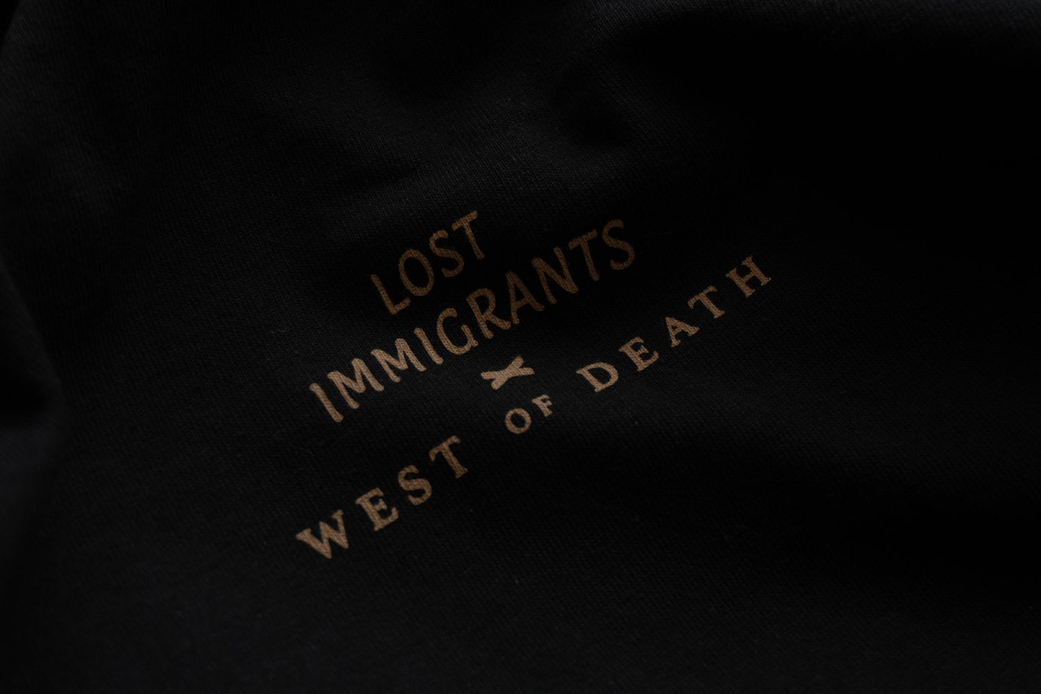 Image of Black Lost Immigrants x West of Death Tee