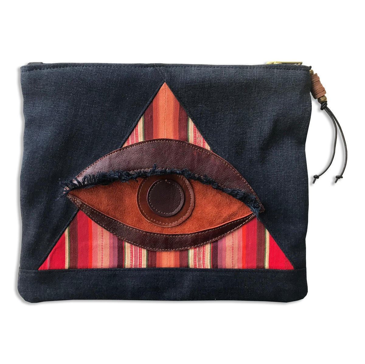 Image of ALL SEEING EYE POUCH - RED JASPER