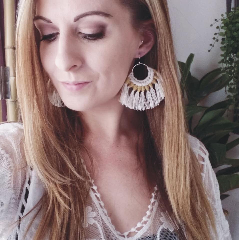 Image of Hoop Earrings - Two Tone