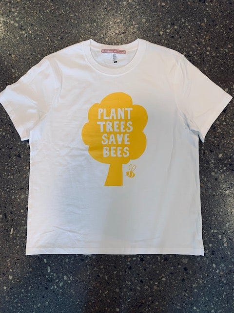 Image of Plant trees save bees tee