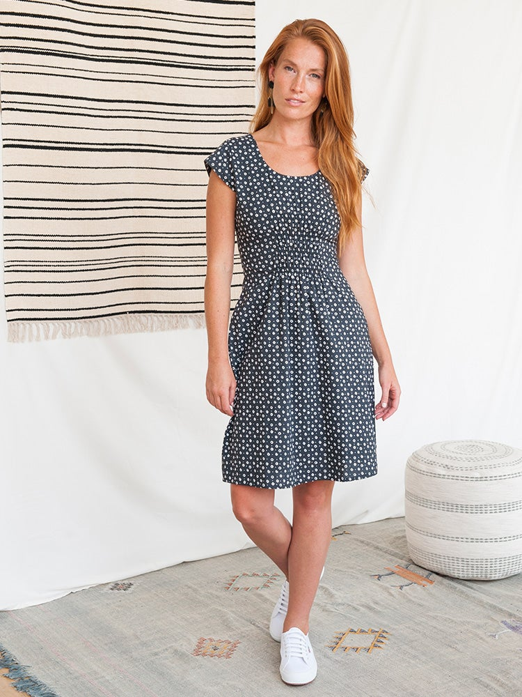 Image of Artsy Traveler Dress - Black Dots