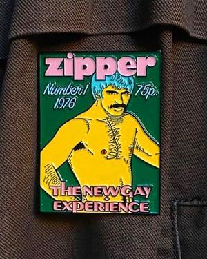 "Image of ""ZIPPER"" VINTAGE FAG MAG ENAMEL PIN"