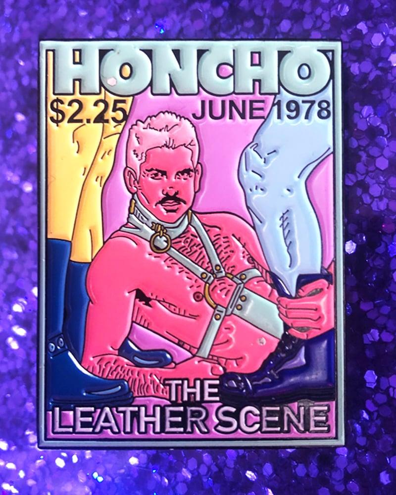 "Image of ""HONCHO"" VINTAGE FAG MAG ENAMEL PIN"