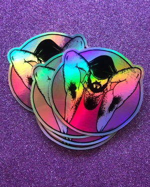 """Image of """"HOLOGRAPHIC DAD"""" STICKER 2 PACK"""