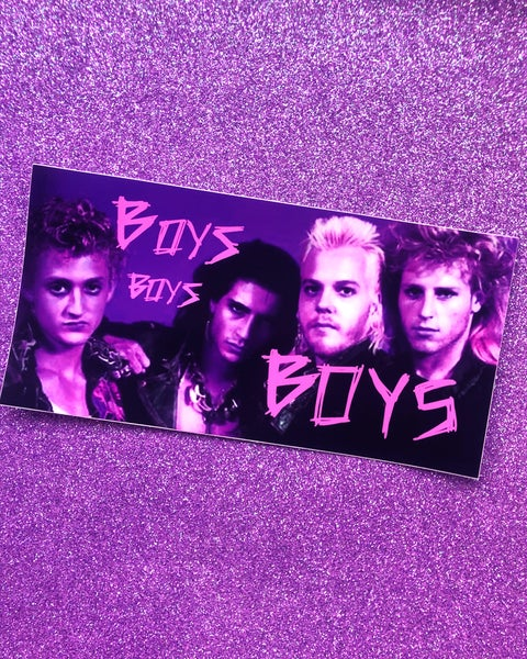 "Image of ""BOYS BOYS BOYS"" BUMPER STICKER"