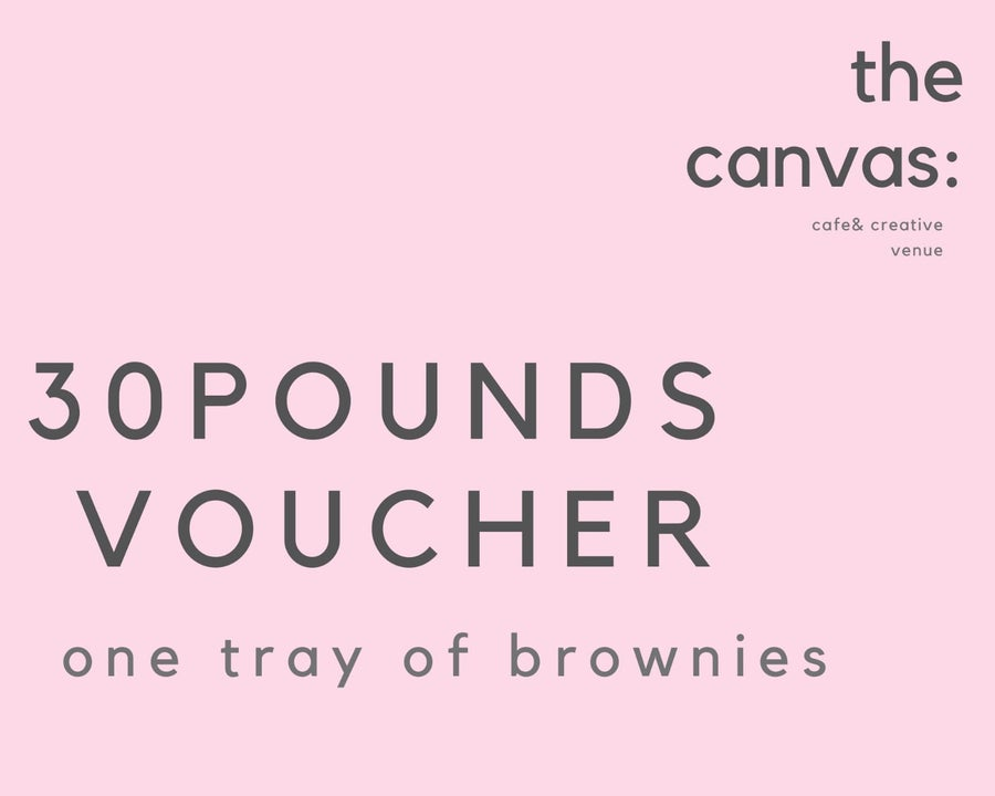 Image of £30 voucher for one tray of brownies (includes delivery)