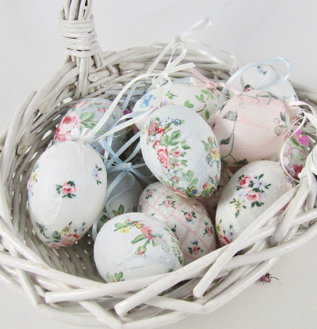 Image of Decoupage glitter eggs