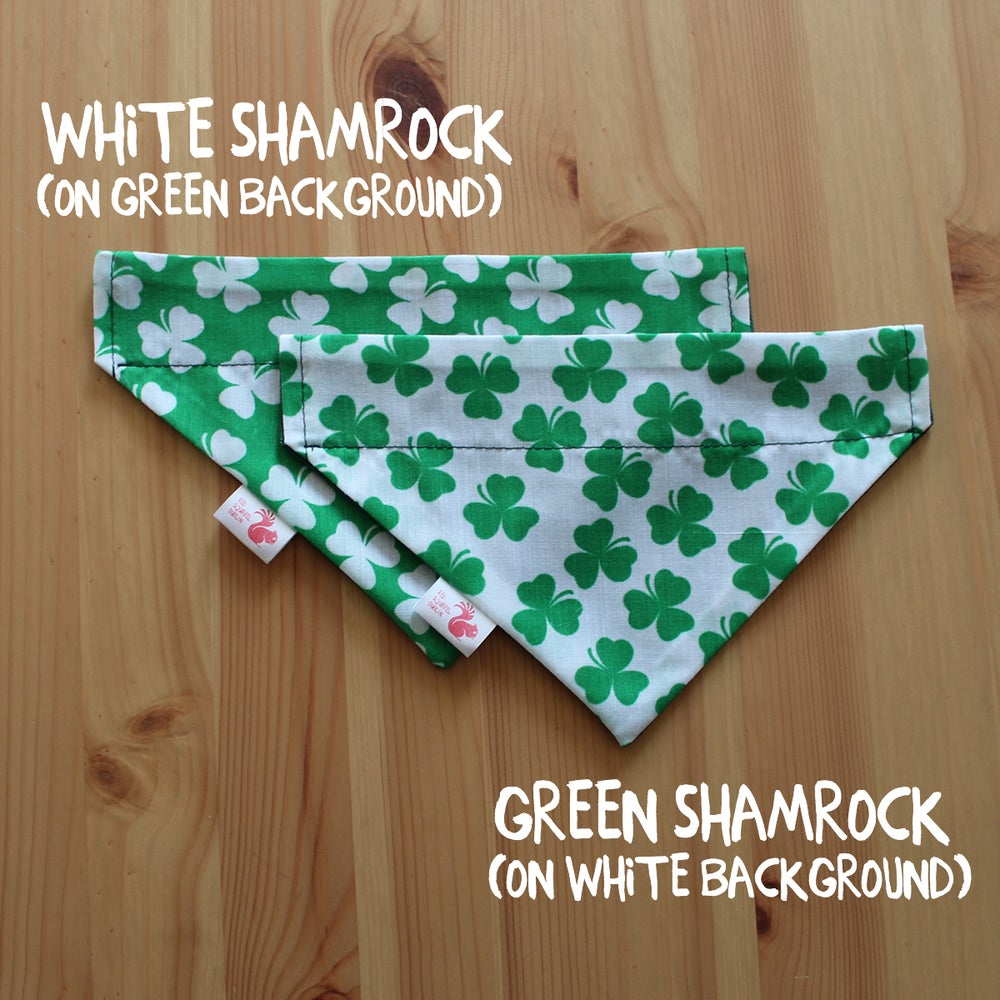 Image of SHAMROCK DOG & CAT BANDANA
