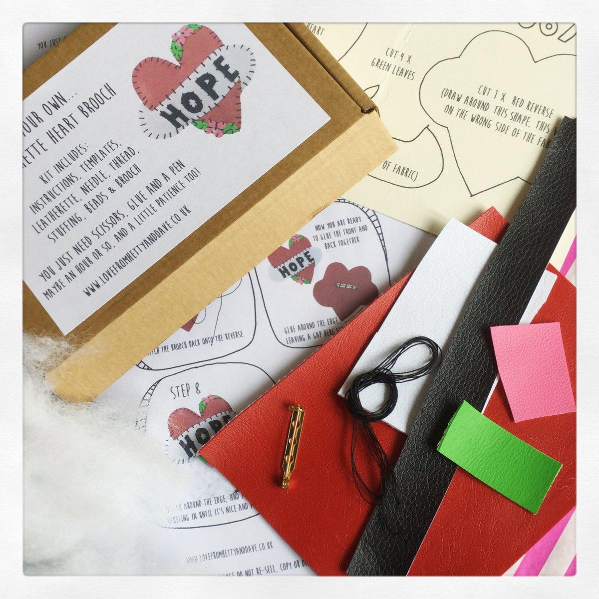 Image of Heart Brooch Kit
