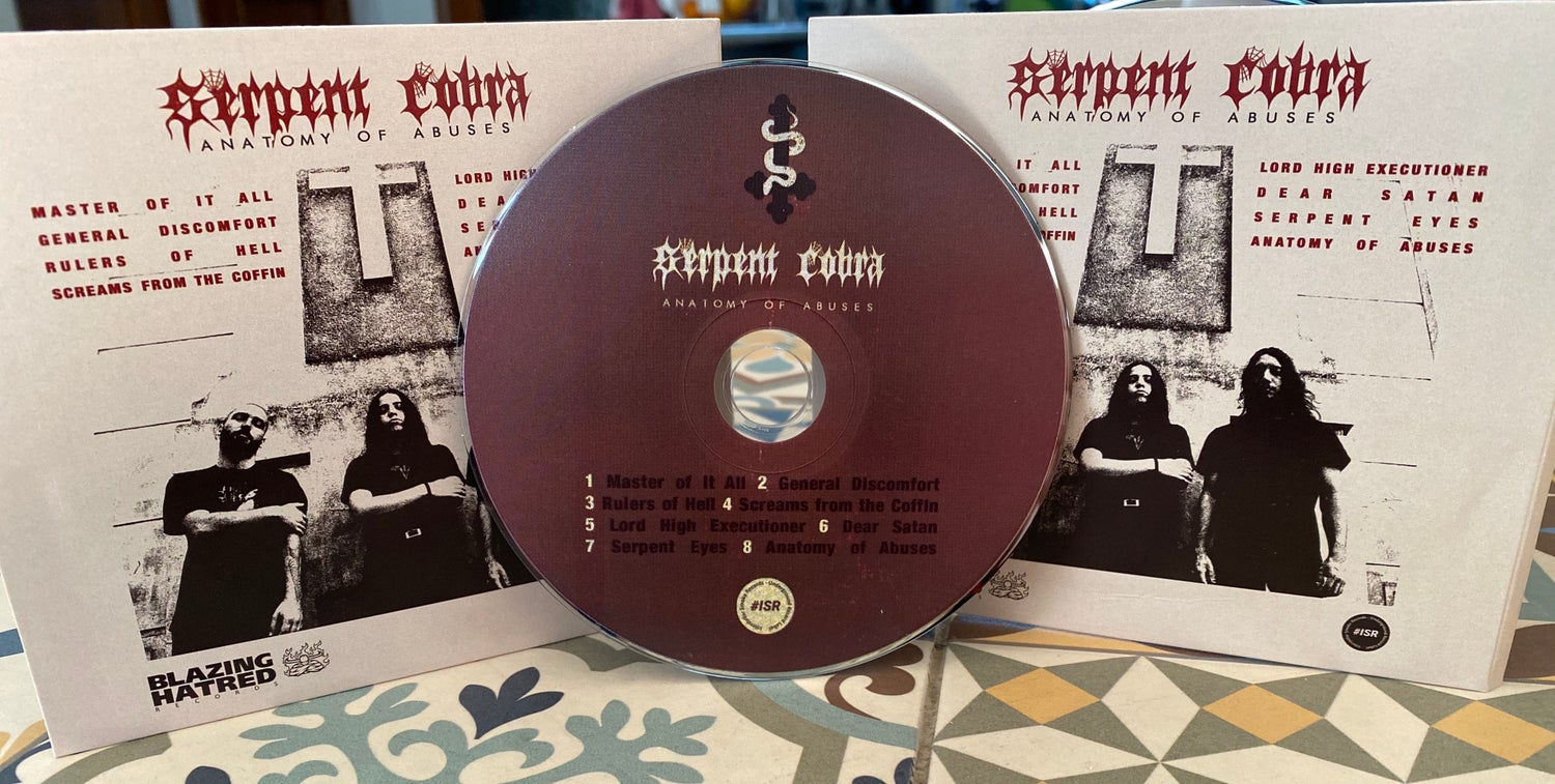 """Image of SERPENT COBRA """"ANATOMY OF ABUSES""""  CD Edition"""