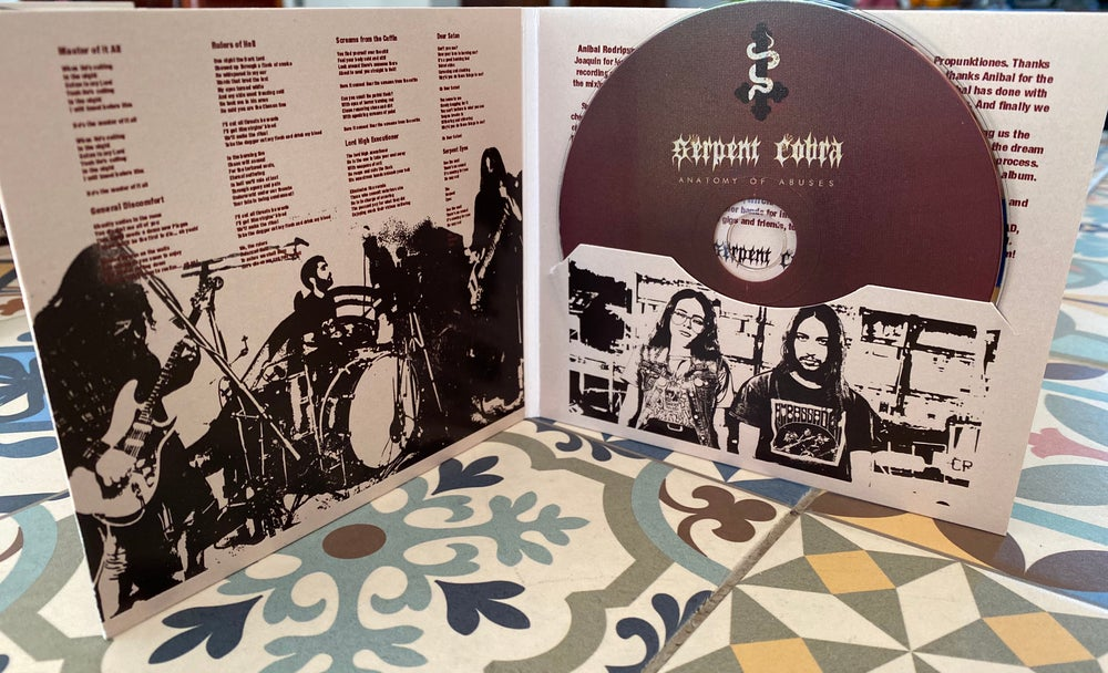 "Image of SERPENT COBRA ""ANATOMY OF ABUSES""  CD Edition"