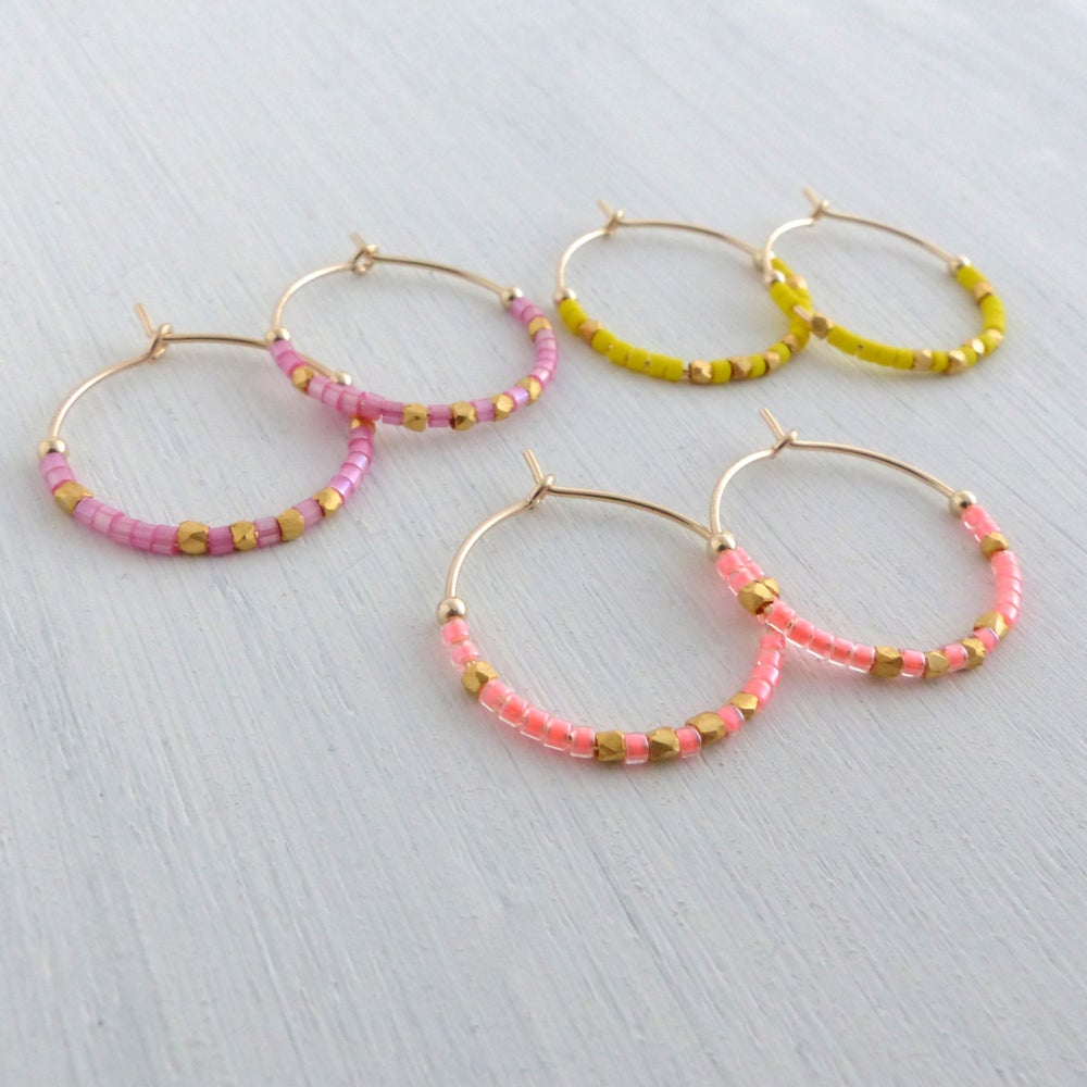Image of 20mm Fair Trade Hoops In Neon Colours