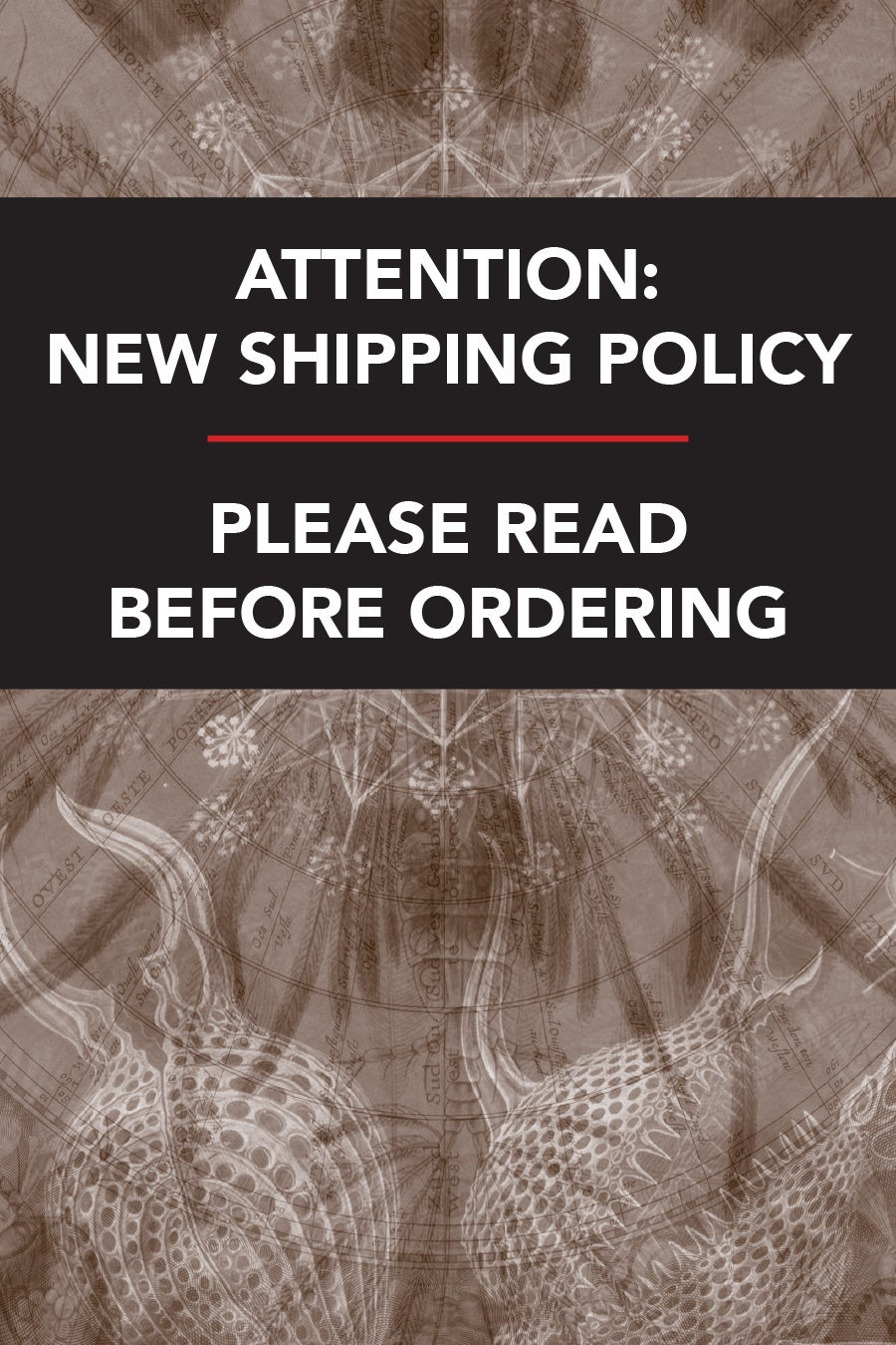 Image of NEW SHIPPING POLICY