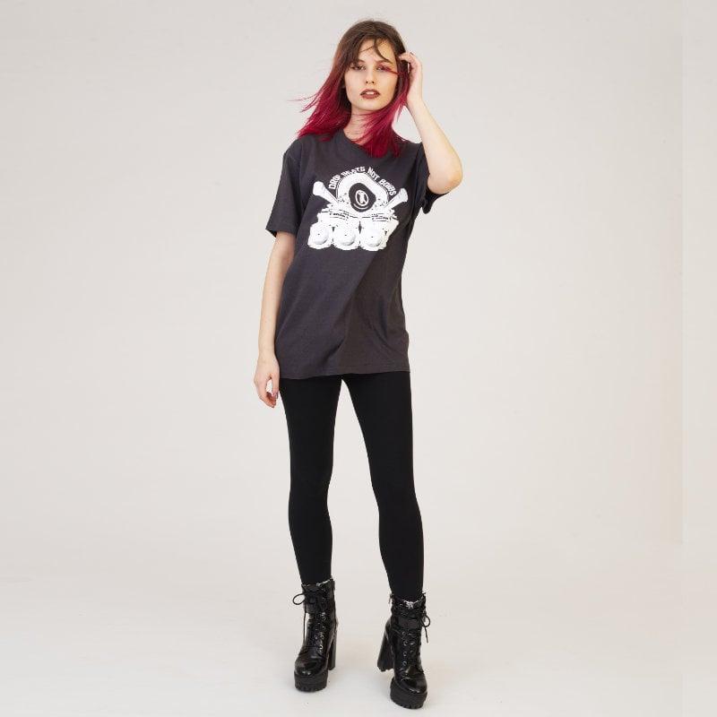 Image of Drop Beats Not Bombs Charcoal T-Shirt